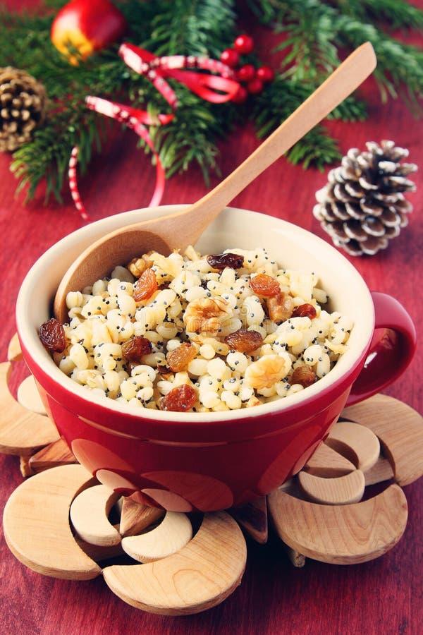 Бак с kutia Традиционная еда помадки рождества стоковая фотография