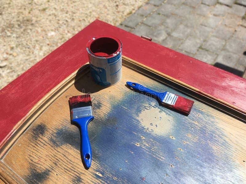 Бак цвета с щетками стоковое изображение
