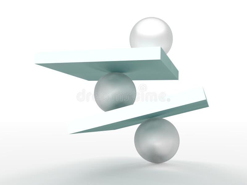балансировать неустойчивый иллюстрация штока