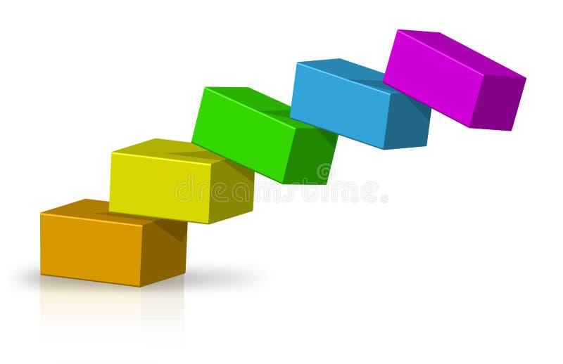 балансируя коробки иллюстрация вектора