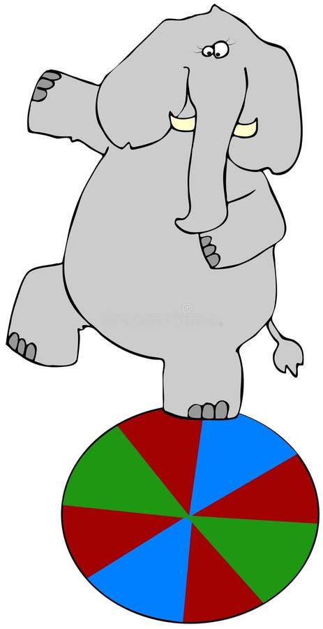 балансируя слон бесплатная иллюстрация