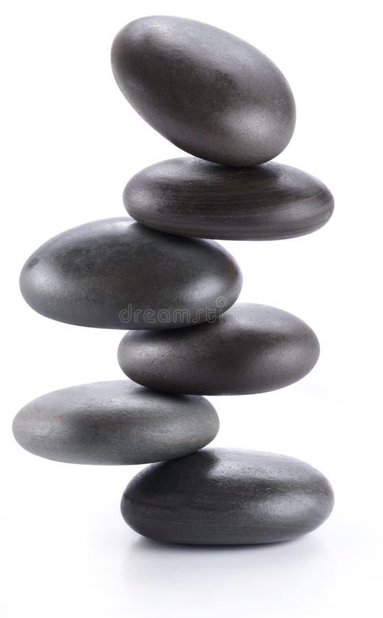 балансируя творческие камни спы пирамидки изображения стоковая фотография rf