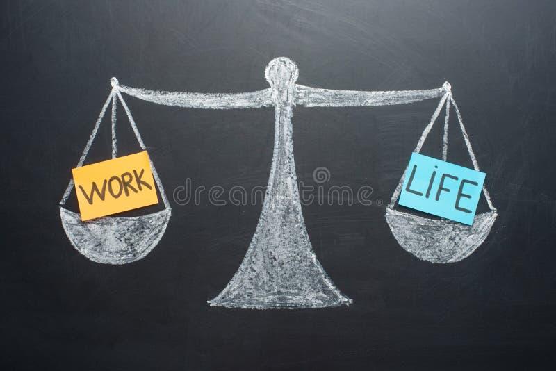 Баланс жизни работы вычисляет по маcштабу дело и выбор образа жизни семьи стоковая фотография rf
