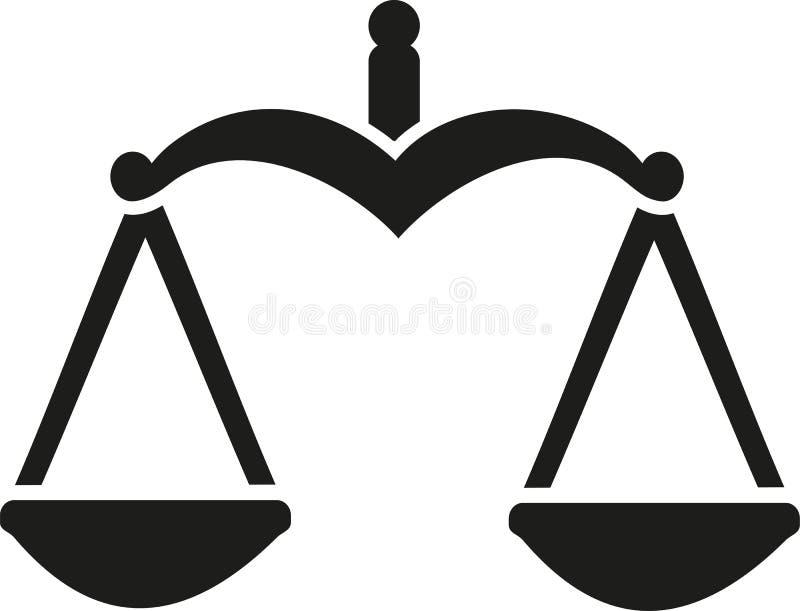Баланс масштаба правосудия иллюстрация вектора