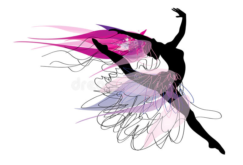 Балерина иллюстрация штока