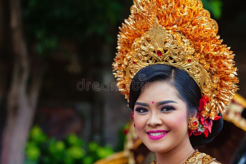Балийский портрет женщины стоковая фотография