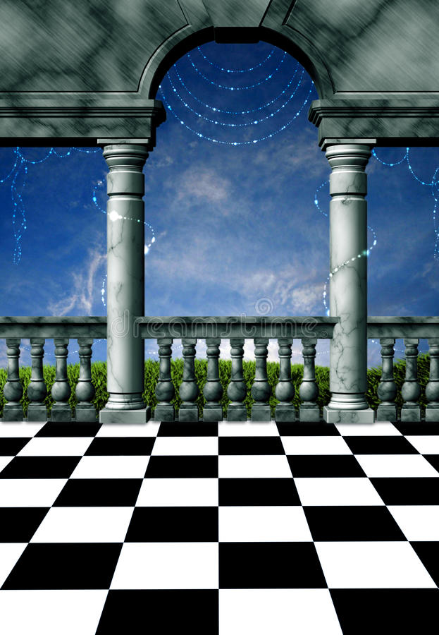 балкон волшебный бесплатная иллюстрация