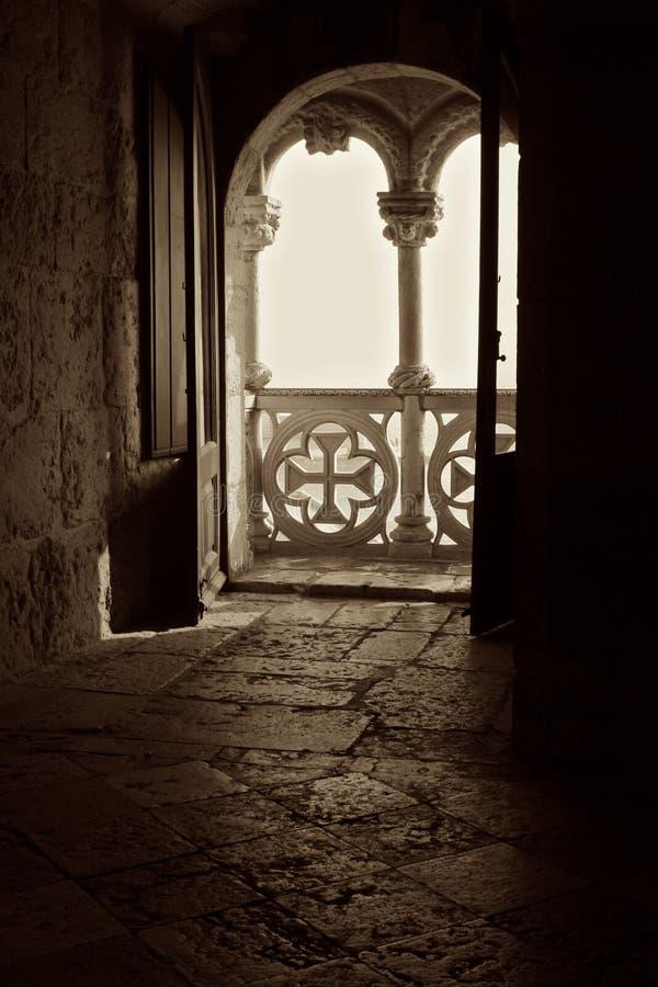 балкон к миру стоковые изображения
