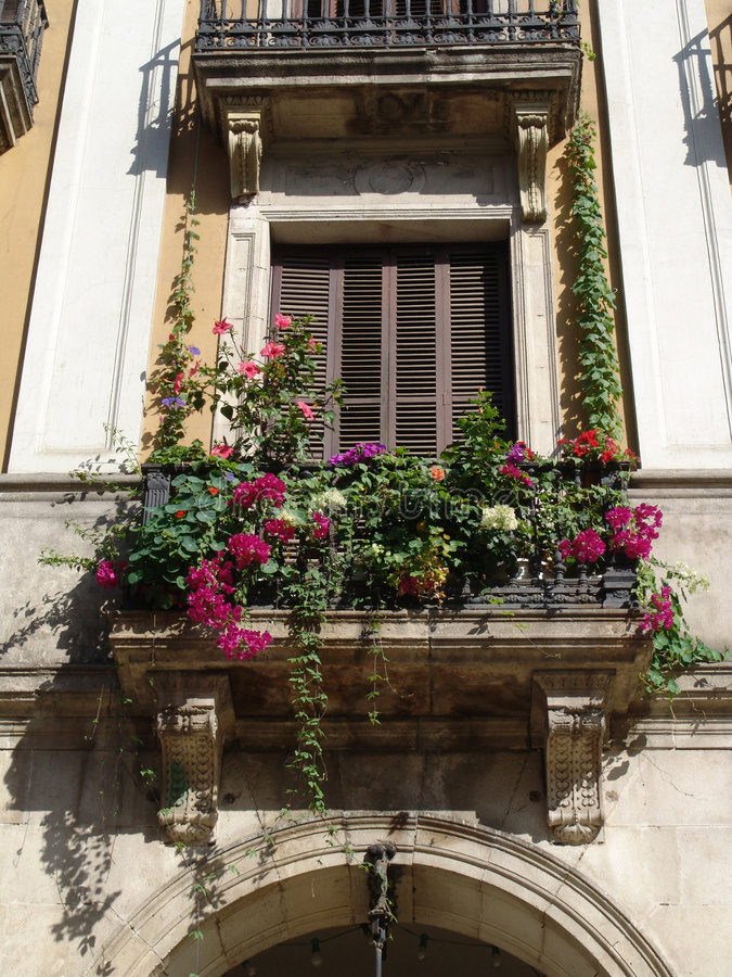 балкон среднеземноморской стоковая фотография rf