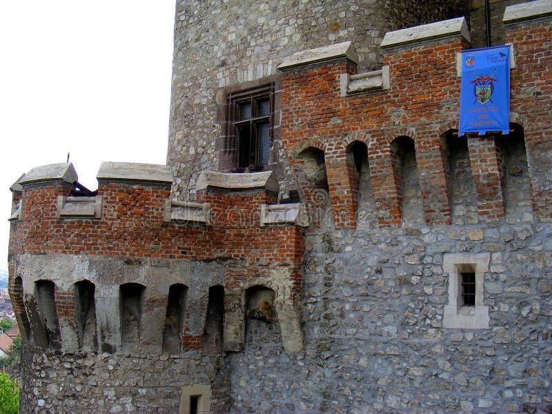 Балкон huniazilor Трансильвании hunedoara замка Corvin стоковые фотографии rf