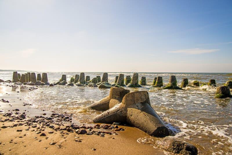 Балтийское море с волн-выключателем стоковая фотография
