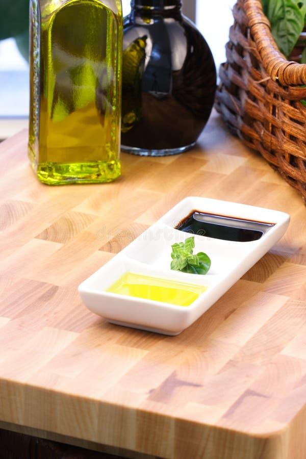 бальзамический уксус оливки масла стоковое фото rf