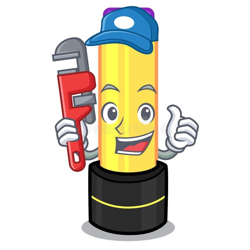 Бальзам губы водопроводчика в форме мультфильма иллюстрация штока
