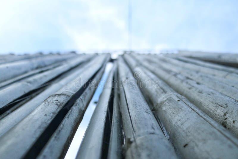 Бамбуковая деревянная предпосылка текстуры стоковое изображение rf