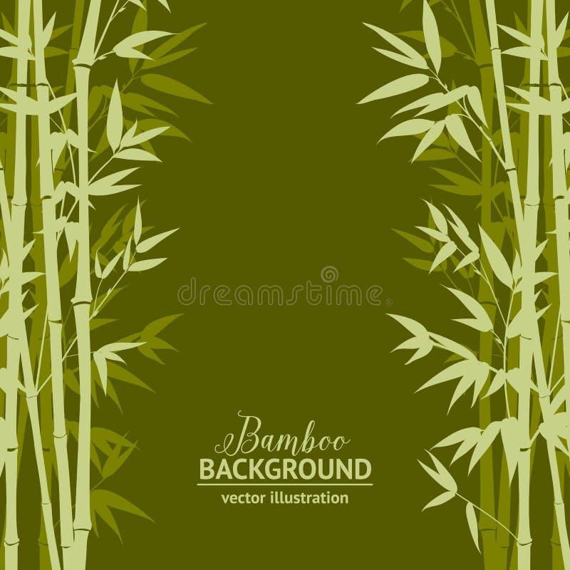Бамбуковая карточка леса иллюстрация вектора