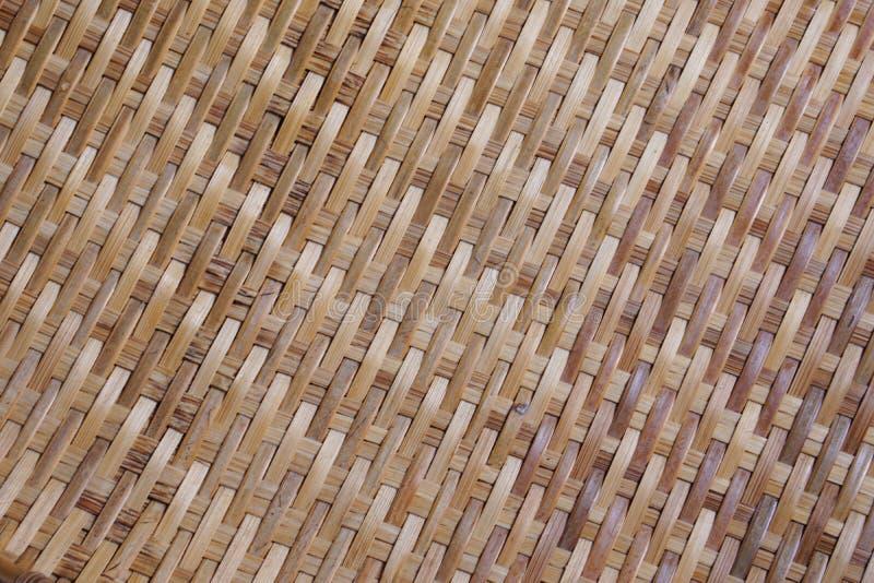 Бамбуковая предпосылка текстуры от тайской молотя корзины стоковые фотографии rf