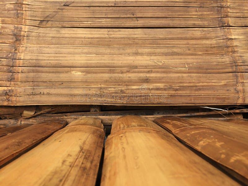 Бамбуковая предпосылка текстуры стены, древесина бамбука планки для графического продукта стойки стоковое изображение