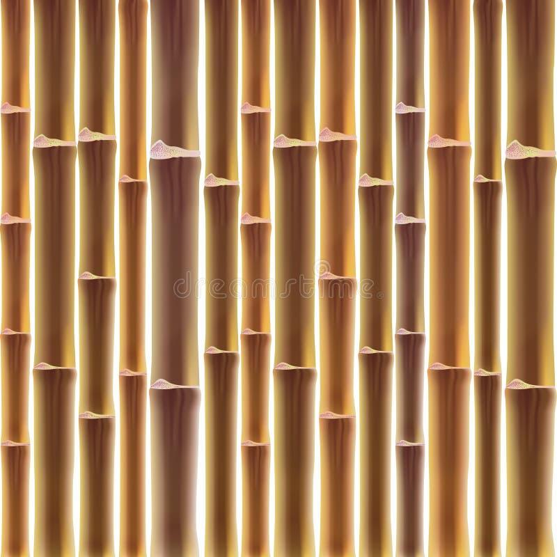 Бамбуковая предпосылка загородки иллюстрация штока