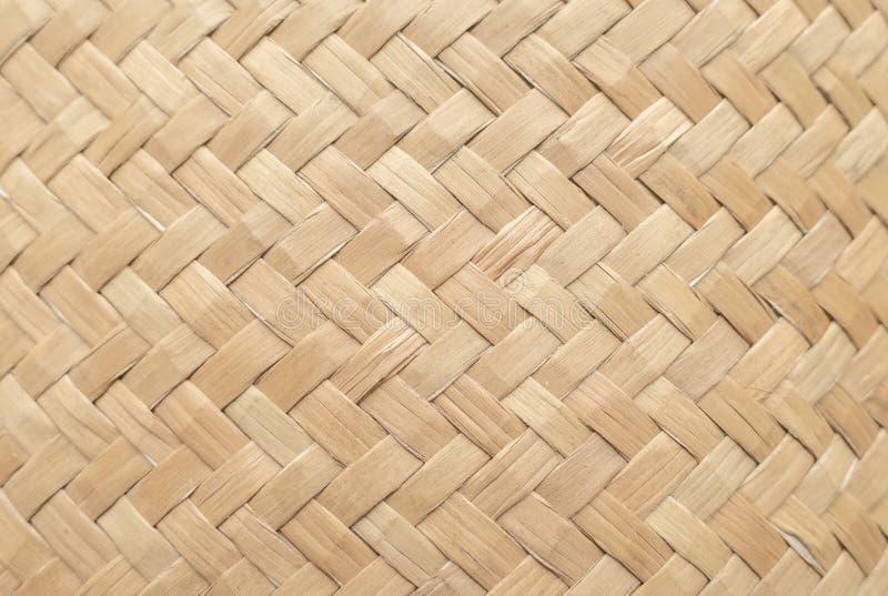Бамбуковая текстура корзины для пользы как предпосылка Картина и текстура сплетенной корзины стоковая фотография rf