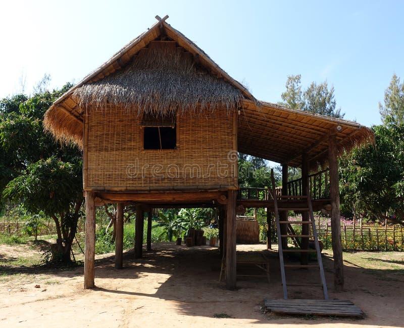 Бамбуковая хата стоковые изображения rf