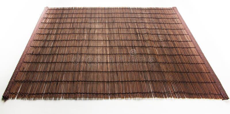 Бамбуковая циновка - еда стойки стоковые фотографии rf