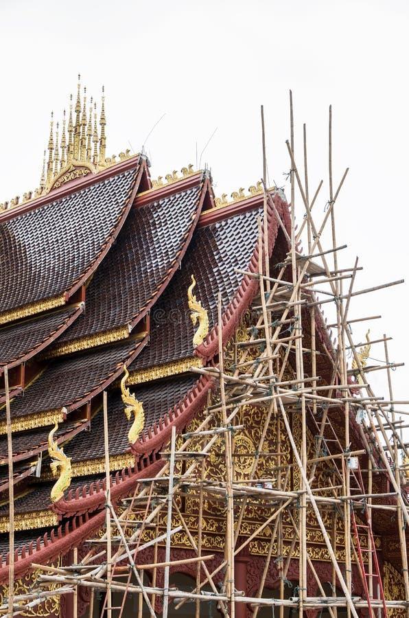 Бамбуковые леса на щипце стоковые изображения