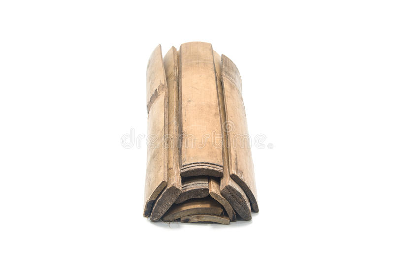 Бамбуковые ручки изолированные на белой предпосылке стоковые фотографии rf