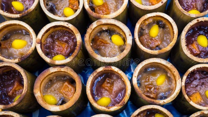 Бамбуковый липкий рис стоковое фото