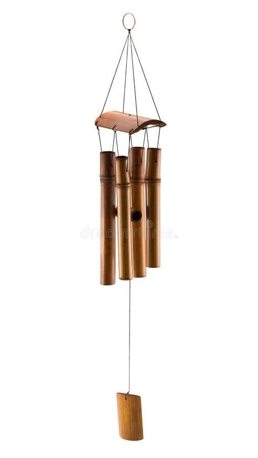 Бамбуковый перезвон ветра стоковая фотография rf