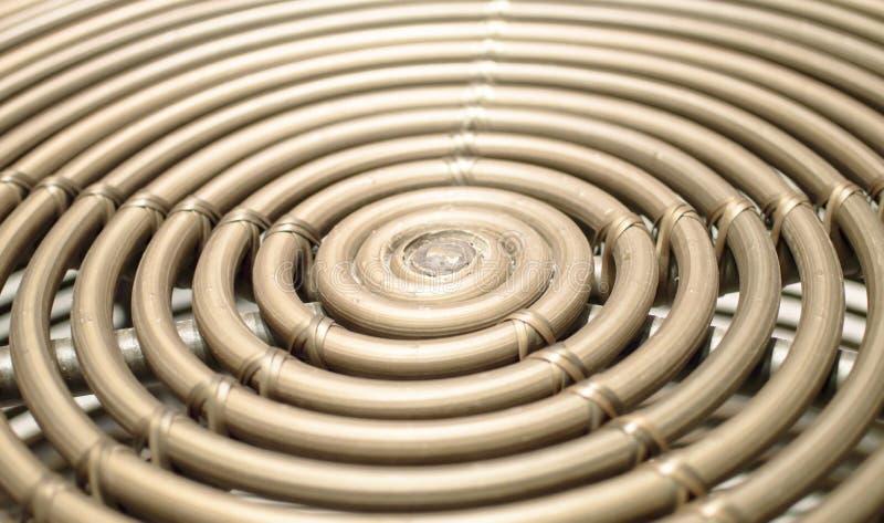 Бамбуковый спиральный конспект и предпосылка стоковые фото