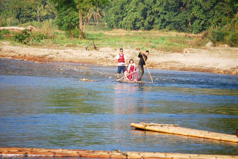Бамбуковый сплавлять стоковое фото rf