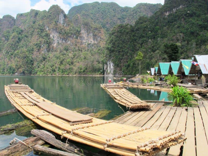 Бамбуковый сплоток стоковое фото rf