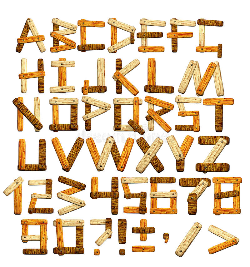 бамбук алфавита бесплатная иллюстрация