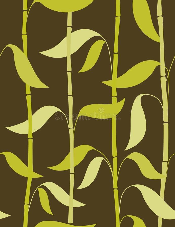 бамбук выходит картина безшовным иллюстрация вектора