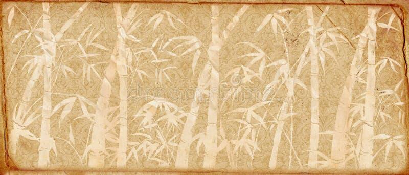 бамбук разветвляет старое бумажное ретро бесплатная иллюстрация