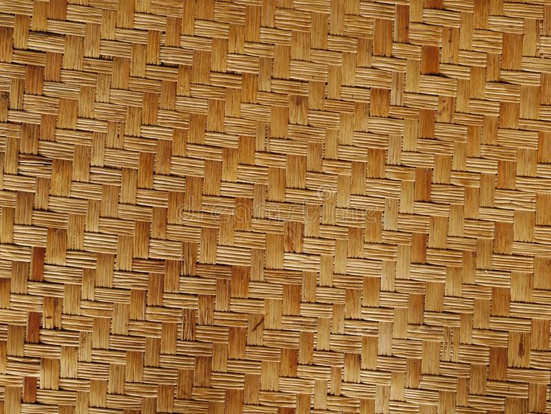 Бамбук соткет предпосылку картины текстуры древесины от handmade корзины ремесел стоковое изображение rf