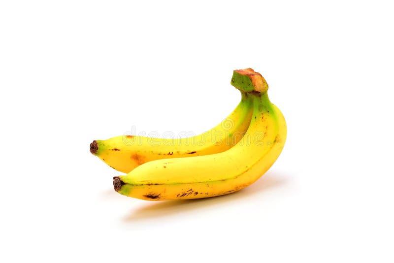 2 банана изолированного на белой предпосылке стоковое изображение