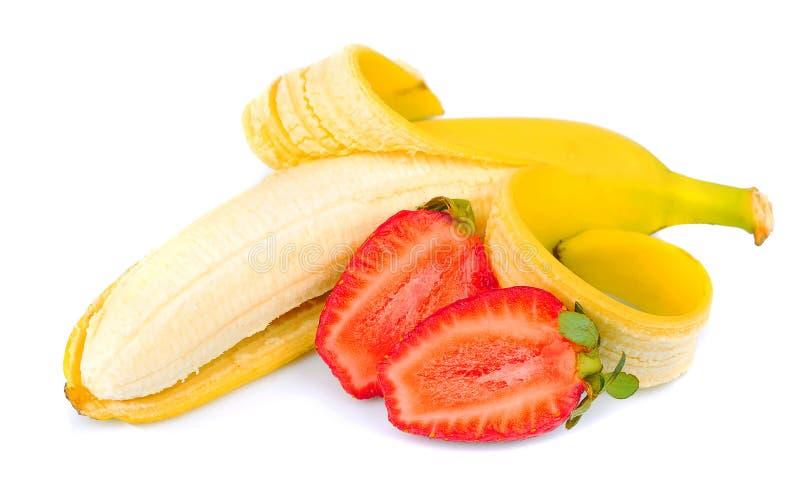 Бананы и клубники стоковое фото rf