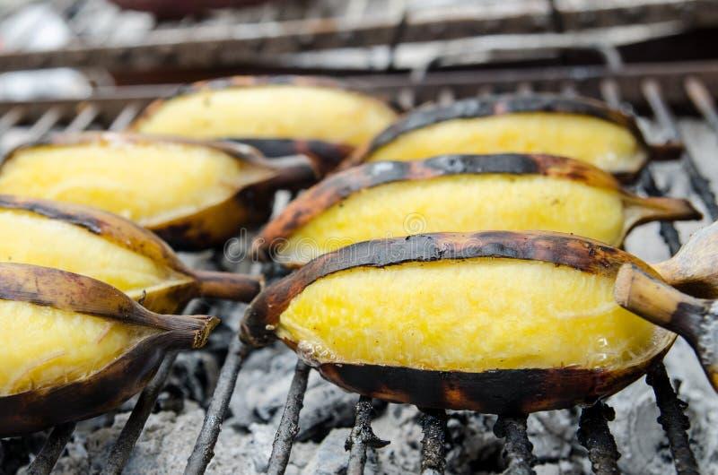 Бананы на гриле стоковое фото