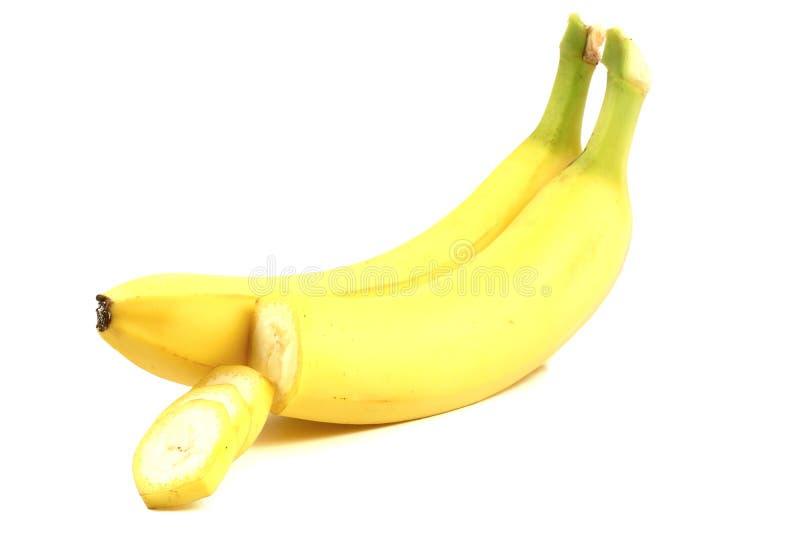бананы предпосылки белые стоковая фотография