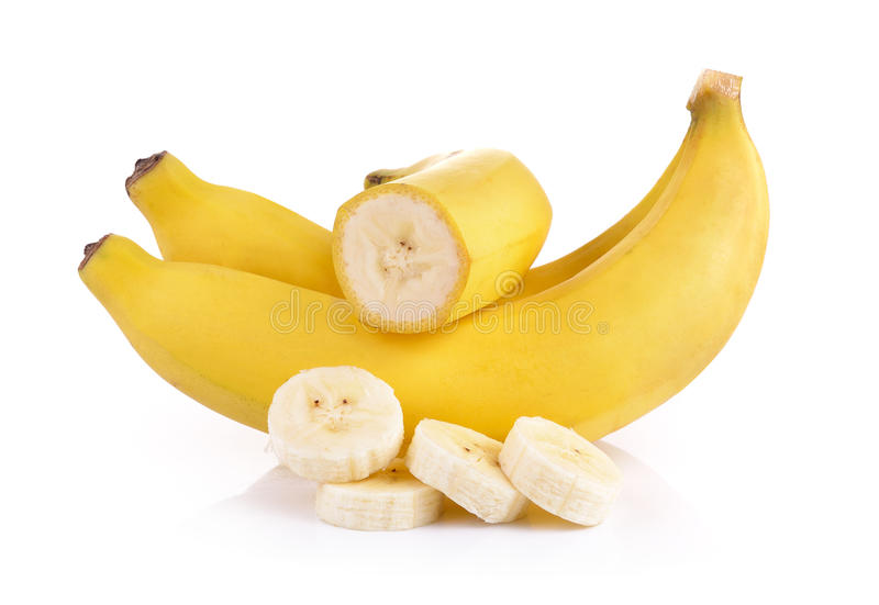 бананы предпосылки белые стоковое фото