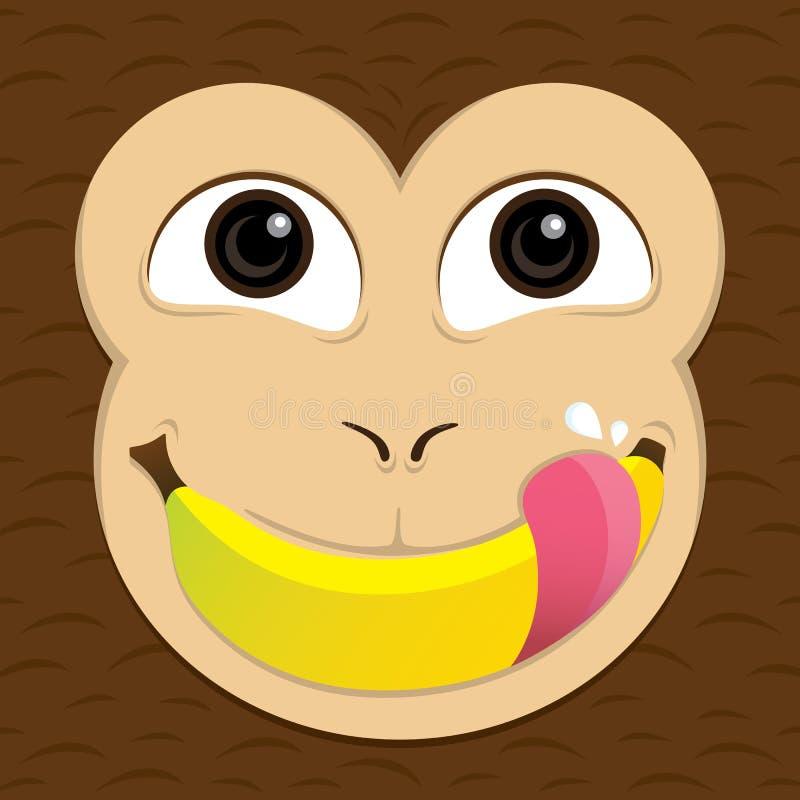 банан ест обезьяну иллюстрация вектора
