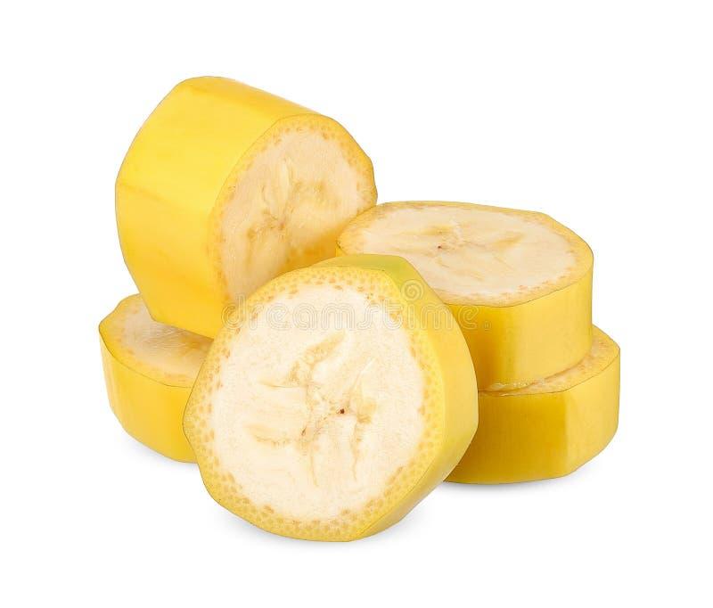 Банан изолированный на белом закрепляя пути стоковые фото