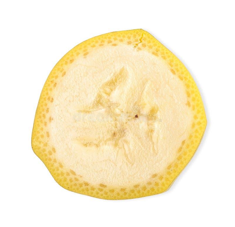 Банан изолированный на белом закрепляя пути стоковые изображения