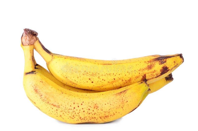 банан изолированный над зрелой белизной стоковая фотография