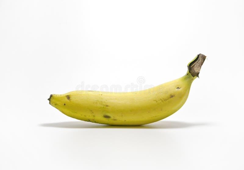 Банан на белой предпосылке стоковые фотографии rf