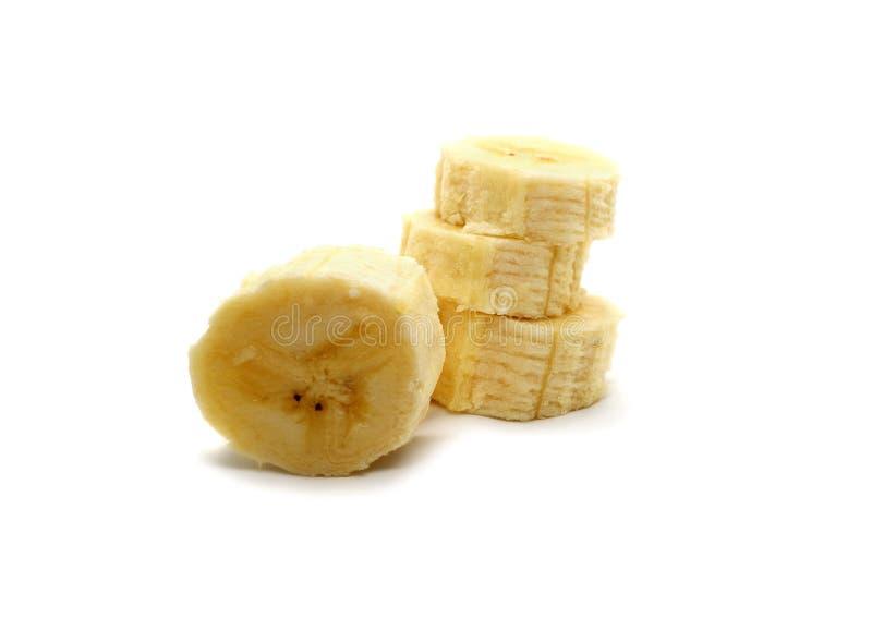 Банан отрезал пук плода изолированный на белой предпосылке стоковое изображение rf
