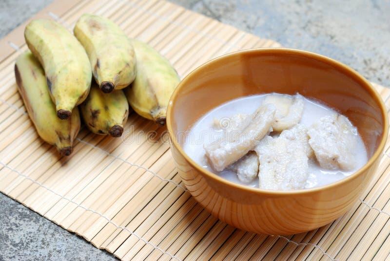 Банан с молоком кокоса стоковая фотография