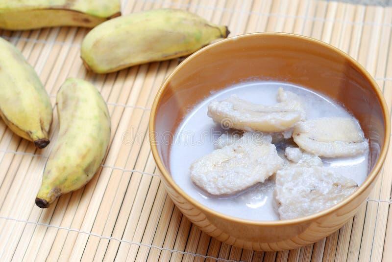 Банан с молоком кокоса стоковое фото rf