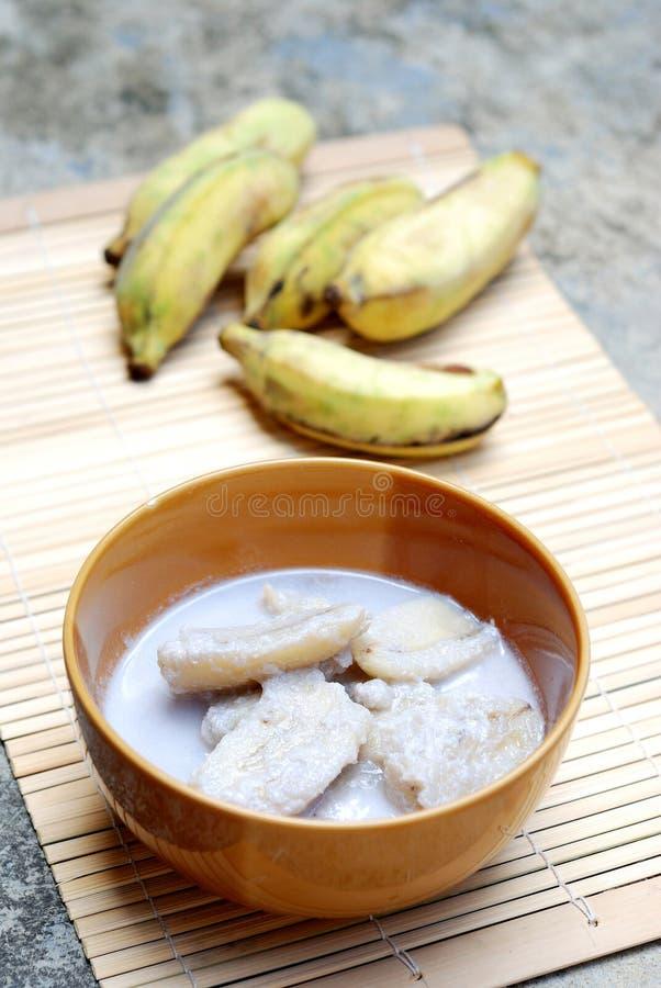 Банан с молоком кокоса стоковые изображения